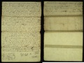 This Agreement made and Concluded this 6th day of April Ano Domini one thousand eight hundred and twenty nine Between Isaac Hale of the Township of Harmony in the County of Susquehanna and State of Pennsyvania of the one part and Joseph Smith Jun. of the Township County  and State aforesaid of the other part Witnesseth that the said Isaac Hale hereby Covenants and agrees to sell and convey to the said Joseph Smith Jun. his Heirs Executors Administrators or assigns by a good and sufficient Deed containing a General Warranty all that certain piece or parcel of land with its appurtenances situate lying and being in the Township of Harmony in the County of Susquehanna and State of Pennsyvania and butted bounded and described as follows Viz. Begining at a Post on the North side bank of the Susquehann River thence North half a degree West one hundred & eleven perches to a post thence North eighty nine and a half degrees East twenty perches to a post thence South half a degree East one hund red and nineteen perches to a Sugar tree on the Bank of said River thence down the River to Bank to the place of Begining Containing in the whole thirteen Acres and eighty Rods be the same more or less, In consideration and for the some of two hundred Dollars to be paid in the following Parshal paymets Viz. one Hundred & fourteen Dollars to be paid by the first of May 1829, and the remainder the first of May 1830 For the due performance of the covenants and agreements afore said the said parties hereby bind themself themselves their Heirs executors Administrators and assigns each to the other respectfully respectively in the penal sum of four hundred Dollars to be paid by the party delinquent to the party complaining In Witness wher of they have hereunto set their hands and seals the day and year first above written<br>